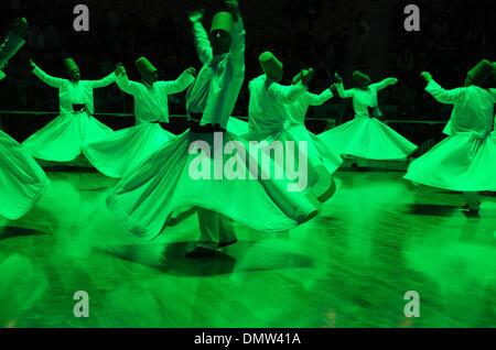Konya, Turkey. 16th December 2013. The 740th anniversary of the death of the Sufi mystic Mevlana Jalaladdin Rumi - Stock Photo
