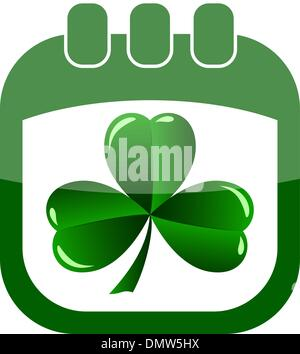 icon St Patrick Day in a calendar - Stock Photo