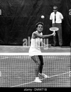 July 2, 1973 - London, England, U.K. - EVONNE GOOLAGONG CAWLEY Australia's top tennis star, becomes the first mother - Stock Photo
