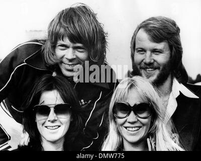 Jan. 31, 1977 - Oslo, Norway - Swedish pop group ABBA started its first ever live tour, when it opened at the Ekeberg - Stock Photo