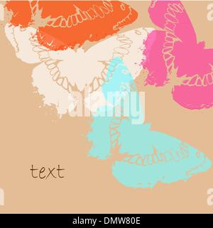 card with stylised butterflies - Stock Photo