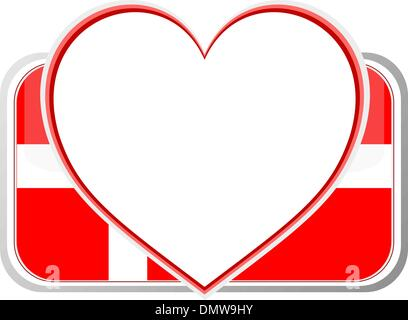 From Denmark with love heart - Stock Photo