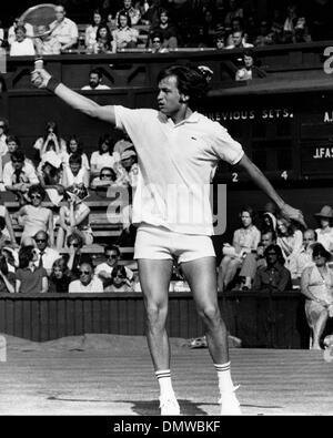July 4, 1973 - London, England, U.K. - Tennis player JURGEN FASSBENDER compets in a match at the Wimbledon Championships. - Stock Photo