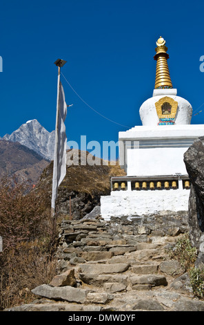 Stupa, Solu Khumbu Region, Himalaya, Nepal - Stock Photo