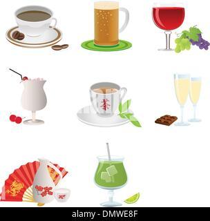 Drinks icon - Stock Photo