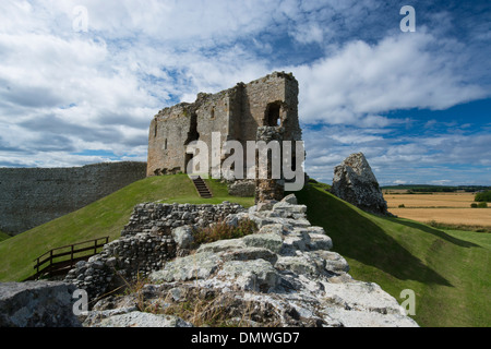 duffus castle forres elgin motte bailey historic - Stock Photo