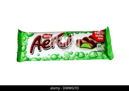 Aero chocolate bar, made by Nestlé. - Stock Photo