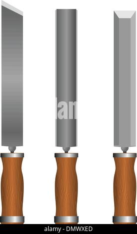 Set of chisels - Stock Photo