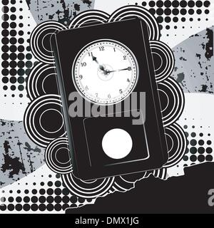 Vector illustration of abstract background with clock - Stock Photo