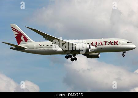 Qatar Airways Boeing 787 Dreamliner - Stock Photo