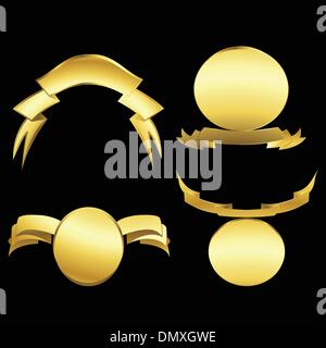 Gold emblems - Stock Photo