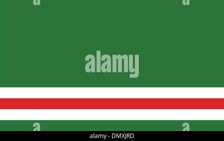 Chechen Republic of Ichkeria Flag - Stock Photo