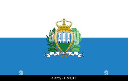 San Marino Flag - Stock Photo