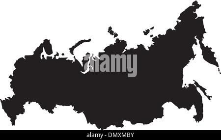 Vector illustration of maps of  Russia - Stock Photo