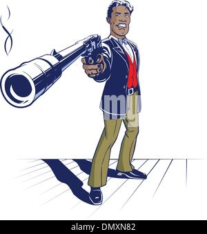 gun gangster - Stock Photo