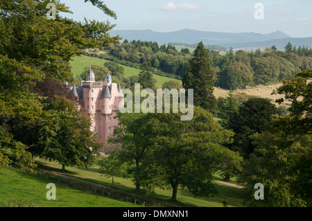 craigievar castle royal deeside a scottish castle - Stock Photo