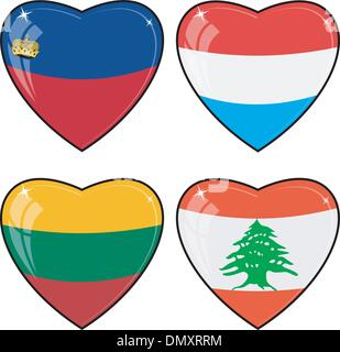 love lebanon heart flag icon stock photo royalty free