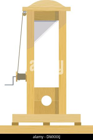 Guillotine. EPS10 - Stock Photo