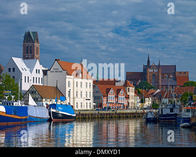 Hanseatic city of Wismar, Mecklenburg-Vorpommern, Germany - Stock Photo
