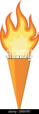 Vector illustration of a cartoon torch. EPS10 - Stock Photo