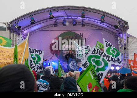 'Wir haben es satt' 2012. Demonstration against german and EU agricultural policy. - Stock Photo