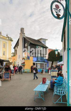 Christmas Food and Craft Fair in Italian style tourists' village of Portmeirion, Gwynedd, North Wales, UK, Britain - Stock Photo