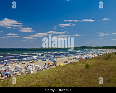 Beach at Baltic Sea resort of Boltenhagen , Mecklenburg-Vorpommern, Germany - Stock Photo