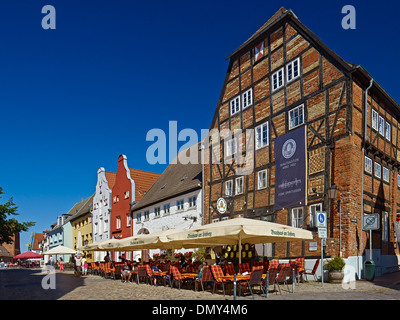 Brauhaus at the Lohberg, Old Harbour, Hanseatic city of Wismar, Mecklenburg-Vorpommern, Germany - Stock Photo