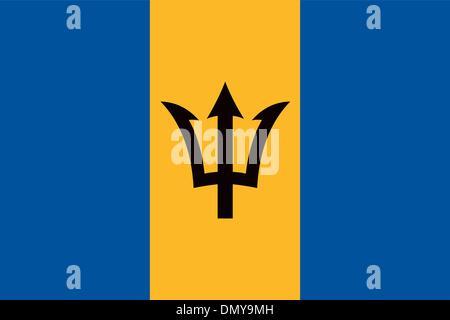 Barbados flag - Stock Photo