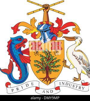 Barbados coa - Stock Photo
