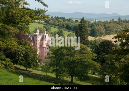 craigievar castle royal deeside a scottish castle - Stock Photo