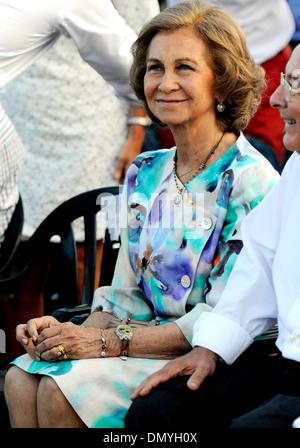 The Queen Sofia in a public event in Mallorca - Stock Photo