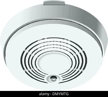 Smoke and fire detector - Stock Photo