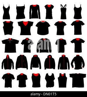 t-shirt templates collection - Stock Photo