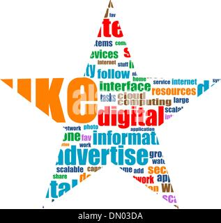 Social media marketing word cloud - Stock Photo