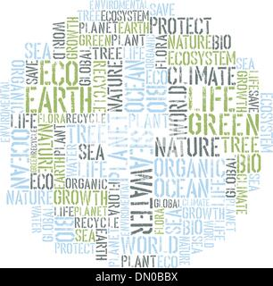 Ecology Earth concept word collage. Environmental poster design - Stock Photo
