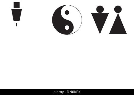 Male And Female Symbols Set Stock Vector Art Illustration Vector