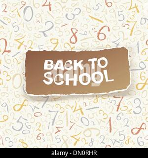 Back to school on chaotic numbers seamless pattern. Vector, EPS1 - Stock Photo