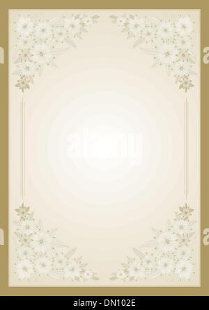 Floral vector frame - Stock Photo