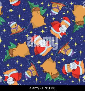 Christmas seamless background - Stock Photo