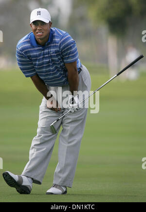 Mar 04, 2006; Miami, FL, USA; Tiger Woods watches his second shot on the par 5, 8th hole.  Mandatory Credit: Photo - Stock Photo