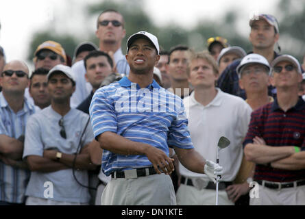 Mar 04, 2006; Miami, FL, USA; Tiger Woods watches  his second shot on the 6th hole.  Mandatory Credit: Photo by - Stock Photo