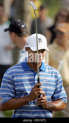 Mar 04, 2006; Miami, FL, USA; Tiger Woods walks to the 11th tee after making a par on the 10th hole. Mandatory Credit: - Stock Photo