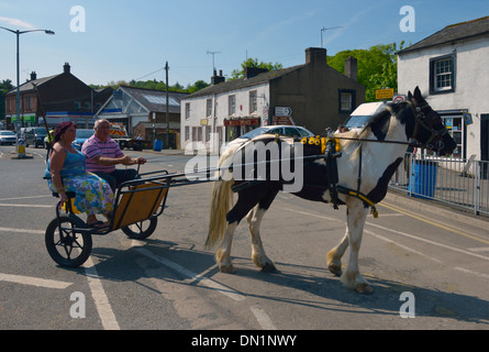 Gypsy travellers. Appleby Horse Fair, June 2013. Appleby-in-Westmorland, Cumbria, England, United Kingdom, Europe. - Stock Photo