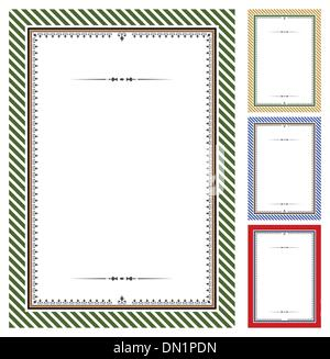 Set of vector certificates - Stock Photo