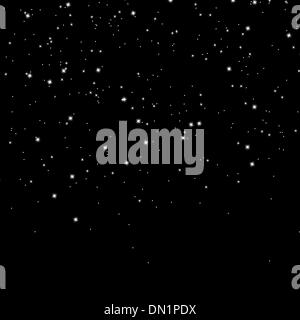 Snow and stars are falling on background. EPS 8 - Stock Photo