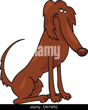 irish setter dog cartoon illustration - Stock Photo