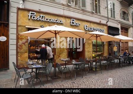 Pasticceria Bar Gertosio in Via Lagrange street central Turin Piedmont region Italy Europe - Stock Photo