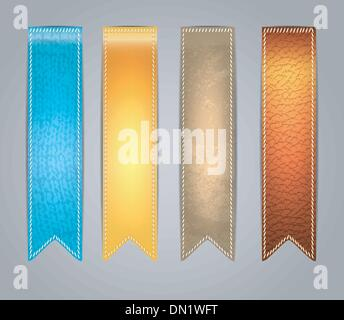 Textured colorful Stickers - Stock Photo