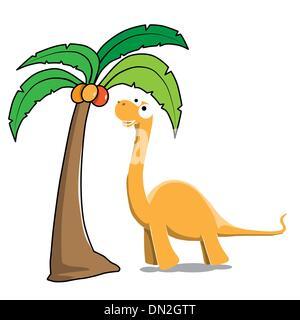 Dinosaur and tree - Stock Photo